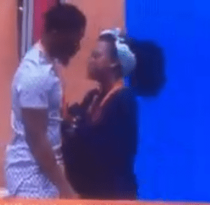 #BBNaija : Tobi Begs Cee-C For A Kiss, Chases Her And She Curves Him (video)