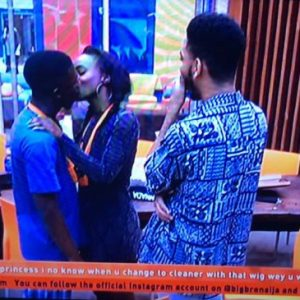 Video: BBNaija Housemates, Anto and Lolu, Kiss After Their Saturday Party