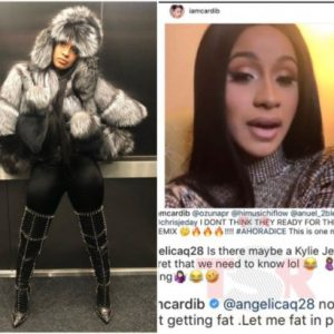 'Let Me Be Fat In Peace'- Cardi B