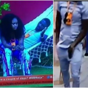 #BBnaija: Cee-C Angry With Tobi For Not Bringing Her Food On Time, He Begs And Hides Erection