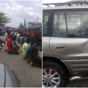 Nigerian lady Assaulted by Muslims Who Blocked A Road In Bayelsa State For Prayers
