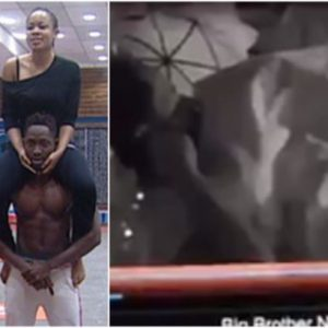 #Bbnaija: Nina Defended After Caught On Camera Performing Oral Sex On Miracle (Video)