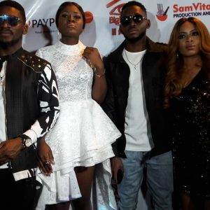 #BBNaija: Cee C, Alex, Miracle, Nina and Tobi Turn Up Homecoming Party