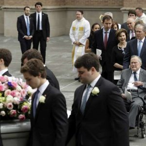 Barbara Bush Laid To Rest At Husband's Presidential Library in Texas