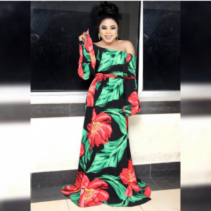 Photos: Bobrisky Slays In New Flora Dress