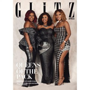 Star Actress's: Joselyn Dumas, Yvonne Okoro and Nana Ama McBrown Cover Glitz Africa Magazine