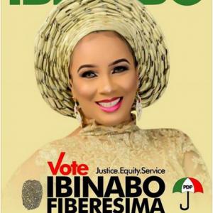 Nollywood Actress Ibinabo Fiberesima Contesting As Chairman