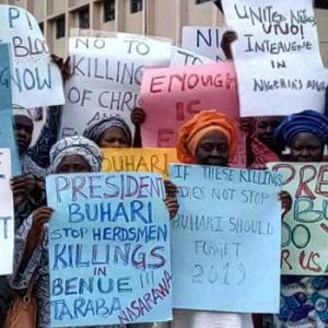 PHOTOS: 'These Killing Must Stop!' Osun, Ondo CAN Protest Killings, Attacks In Northeast Benue