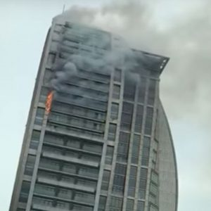 Trump Tower Is On Fire In Azerbaijan Capital Baku