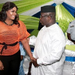 PHOTOS: Nollywood Actress, Omotola Jalade Attends Sierra Leone's Presidential Inauguration