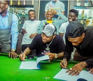Photos From Davido Signs Idowest To DMW