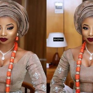 Mo'Cheddah's Beautiful Photo Look At Her Traditional Wedding In Lagos Yesterday