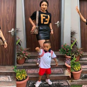 PHOTOS From Tonto Dikeh Rocks Mini Skirt To Her Son's School Event