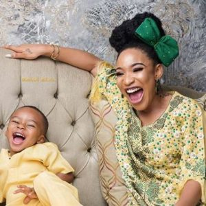 PHOTOS: Nollywood Actress, Tonto Dikeh Celebrates Children's day With Her Son King Andre