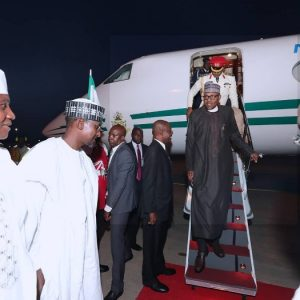 PHOTOS: President Buhari Has Arrived Abuja From London