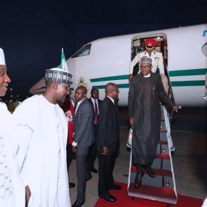 PHOTOS: President Buhari Has Arrived Abuja From London