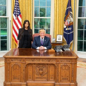 President Trump Holds Prison Reform Meeting With Kim Kardashian
