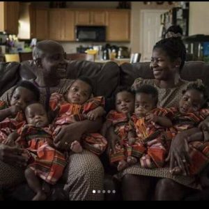 PHOTOS: Nigerian Couple Who Gave Birth To Sextuplets In US Show Of Their Babies
