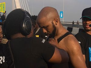 PHOTOS ON SET: Banky W Lands Another Movie Role, As TBoss Joins Him On Set