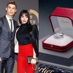 Cristiano Ronaldo Engages Girlfriend Cartier Diamond Ring Worth £615k