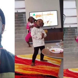 VIDEO: Timaya's Daughters Teach Him How To Dance 'Shaku Shaku'