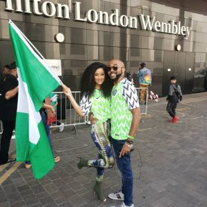 Celebrity Who Came Out To Support The Super Eagles At Wembley Stadium