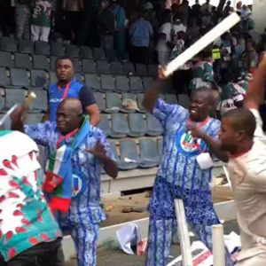 PHOTOS: Delegates Exchange Blows During Buhari's Speech