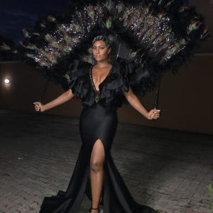 PHOTOS: Osas Ighodaro Ajibade, Ini Dima-Okojie, Toke Makinwa, Omoni Oboli At The MET Gala Themed #Oceans8 Premiere