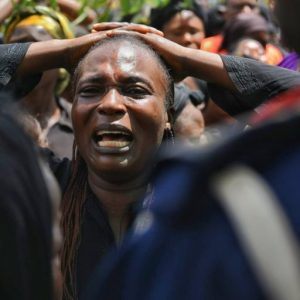 See Photos Of People Mourn & Wail As They Hold Peaceful Protest At Government House Over Plateau Killings…
