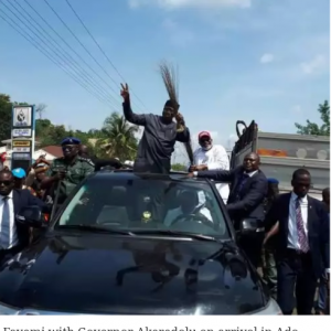 GRAPHIC PHOTO:  APC Guber Candidate Kayode Fayemi Allegedly Escapes Assassination Attempt…