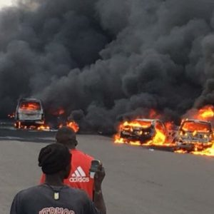 PHOTOS: 9 Bodies Recovered As Lagos State Government Releases Statement On Tanker Explosion