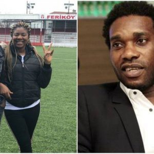 2018 World Cup: Kenneth Omeruo's Wife Calls Jay Jay Okocha A Mad Man For Criticizing Her Husband