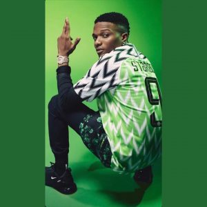 Adorable Photo Of Your Favourite Celebrities Rocking Super Eagle World Cup Kit