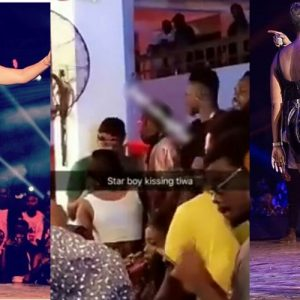 WATCH:  Wizkid And Tiwa Savage Share Passionate Kiss In a Club In Ghana