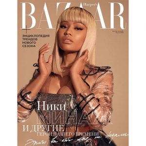 Pop Star Nicki Minaj Cover Harper's Bazaar Russia's Latest Issue
