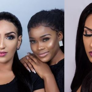 #BBNaija Stars Cee-C And Khloe Turn Eyelash Models For Juliet Ibrahim