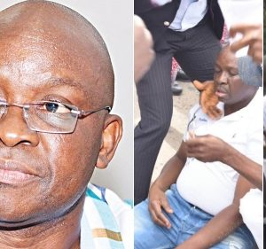 Fayose's Brother Cries  As Security Officials Allegedly Surround Ekiti Govt. House