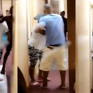 VIDEO: American Lady Threatens To Stab Nigerian House-mate Over The Use Of Toilet