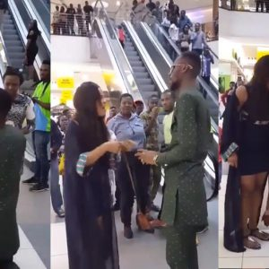 See Video: Nigerian Man Proposes To His Girlfriend In Public & Receives A Dirty Slap