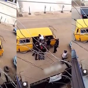 Video: SARS Officers Seen Assaulting A Man In Lagos