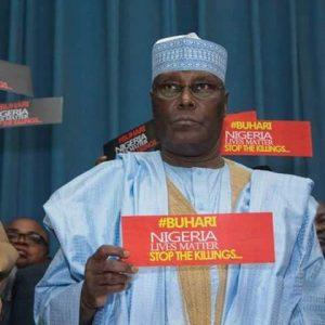 Buhari Stop The Killings: Atiku, Ekweremadu And Others Protest Against President Buhari