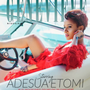 Nollywood Actress Adesua Etomi Cover Genevieve Magazine Latest Issue