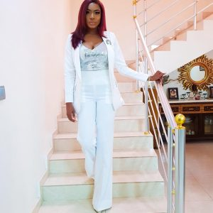 "Nollywood Actress Chika Ike Is Looking Gorgeous In White For ""Boss Up"" Book Signing"
