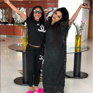 Nollywood Actress Tonto Dikeh Professes Love To Bobrisky As They Step Out In Black