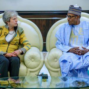 British PM, Theresa May Meets Pres. Buhari
