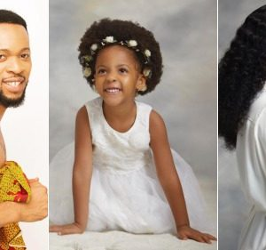 Flavour And Ex-MBGN, Anna Banner Celebrate Their Daughter, Sophia As She Clock 3