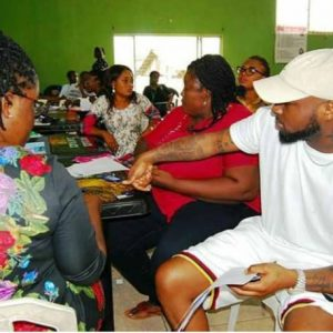 More Photos Of Davido During His Registration At The NYSC Camp In Lagos