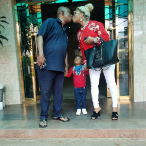 Nollywood Actress, Tonto Dikeh Receives Heavy Blasts For Kissing Her Dad In New Photo