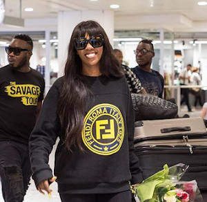 Tiwa Savage Shares Sexy Hot Photos As She Arrives London For The Savage Tour