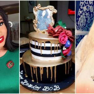 Bobrisky Shares Pictures Of Birthday Cake Tonto Dikeh Bought For him